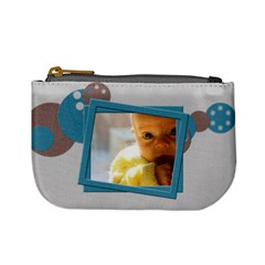 Baby Cute Blue   Mini Coin Purse By Carmensita   Mini Coin Purse   2xe4g46xwvu0   Www Artscow Com Front