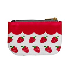 Strawberries 02 By Carol   Mini Coin Purse   0fqyewmajvtg   Www Artscow Com Back
