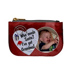 Grandma s Christmas Mini Coin Purse By Lil    Mini Coin Purse   Vnr7g87kgpte   Www Artscow Com Front