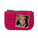 Casual  purse pink with your name - Mini Coin Purse