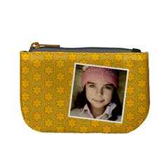 Casual  Purse Yellow Flowers  By Jorge   Mini Coin Purse   Yxafzdj4gw49   Www Artscow Com Front