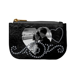 Black & Sparkle Mini Coin Purse By Lil    Mini Coin Purse   Skw4wo0odayl   Www Artscow Com Front