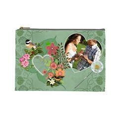 Pretty Green Large Cosmetic Bag By Lil    Cosmetic Bag (large)   55uool7gvvb8   Www Artscow Com Front