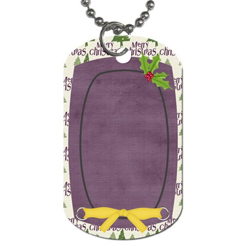 Holiday Rush Holly Dog Tag By Bitsoscrap   Dog Tag (one Side)   D72e1mpbbog2   Www Artscow Com Front