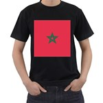Flag_Morocco Black T-Shirt