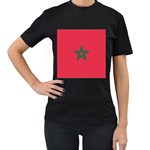 Flag_Morocco Women s Black T-Shirt