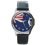 Flag_Montserrat Round Metal Watch