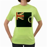 Flag_Montserrat Women s Green T-Shirt