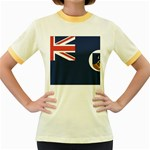 Flag_Montserrat Women s Fitted Ringer T-Shirt