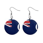 Flag_Montserrat 1  Button Earrings