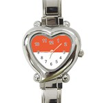Flag_Monaco Heart Italian Charm Watch