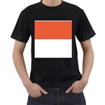 Flag_Monaco Black T-Shirt (Two Sides)