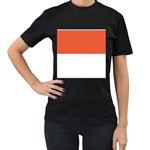 Flag_Monaco Women s Black T-Shirt (Two Sides)