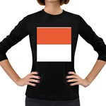 Flag_Monaco Women s Long Sleeve Dark T-Shirt