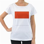 Flag_Monaco Maternity White T-Shirt