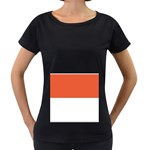 Flag_Monaco Maternity Black T-Shirt