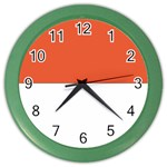 Flag_Monaco Color Wall Clock
