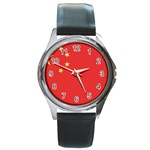 Flag_China Round Metal Watch