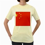 Flag_China Women s Yellow T-Shirt