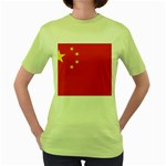 Flag_China Women s Green T-Shirt