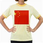 Flag_China Women s Fitted Ringer T-Shirt