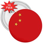 Flag_China 3  Button (10 pack)
