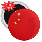 Flag_China 3  Magnet (100 pack)