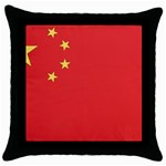 Flag_China Throw Pillow Case (Black)