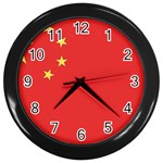 Flag_China Wall Clock (Black)