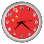 Flag_China Wall Clock (Silver)