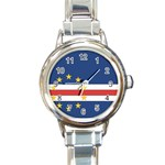 Flag_Cape Verde Round Italian Charm Watch