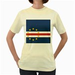 Flag_Cape Verde Women s Yellow T-Shirt