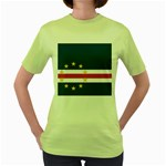 Flag_Cape Verde Women s Green T-Shirt