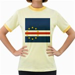 Flag_Cape Verde Women s Fitted Ringer T-Shirt
