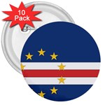 Flag_Cape Verde 3  Button (10 pack)