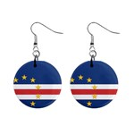 Flag_Cape Verde 1  Button Earrings