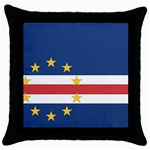 Flag_Cape Verde Throw Pillow Case (Black)