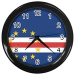 Flag_Cape Verde Wall Clock (Black)