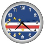 Flag_Cape Verde Wall Clock (Silver)