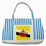 Flag_Brunei Striped Blue Tote Bag