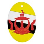 Flag_Brunei Oval Ornament (Two Sides)