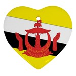 Flag_Brunei Heart Ornament (Two Sides)