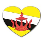 Flag_Brunei Mousepad (Heart)