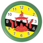 Flag_Brunei Color Wall Clock