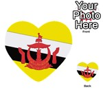 Flag_Brunei Multi-purpose Cards (Heart)