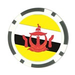 Flag_Brunei Poker Chip Card Guard (10 pack)
