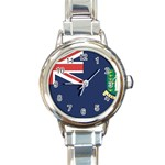 Flag_Brit Virgin Islands Round Italian Charm Watch