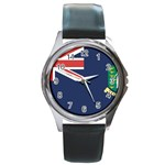 Flag_Brit Virgin Islands Round Metal Watch