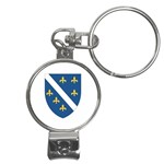 Flag_Bosnia-Herzegovina Nail Clippers Key Chain