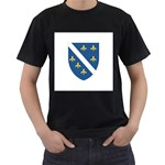 Flag_Bosnia-Herzegovina Black T-Shirt (Two Sides)